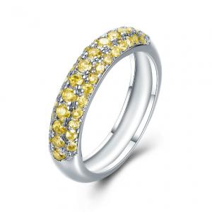 Msr187 Simple Ring Micro Setting Finger Ring 18k Ring Wedding Ring